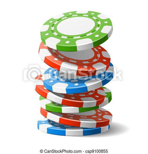 Cayendo fichas de casino - csp9100855