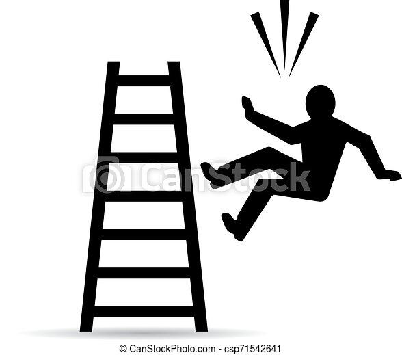 Cayendo de la señal de vector de escalera - csp71542641