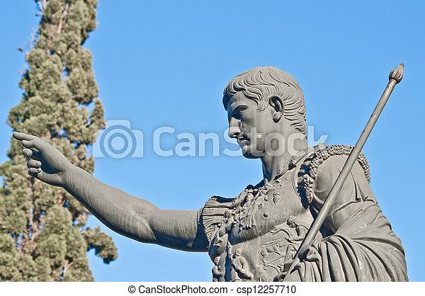 Caesar Augustus statue at Zaragoza, Spain - csp12257710