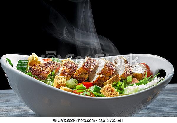 Caesar salad made ??of fresh ingredients - csp13735591