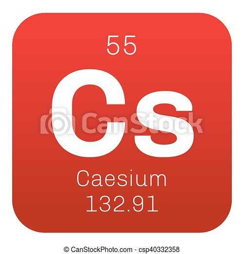 Caesium chemical element soft alkali metal colored icon with caesium chemical element soft alkali metal colored icon with atomic number and atomic weight chemical element of periodic table urtaz Gallery