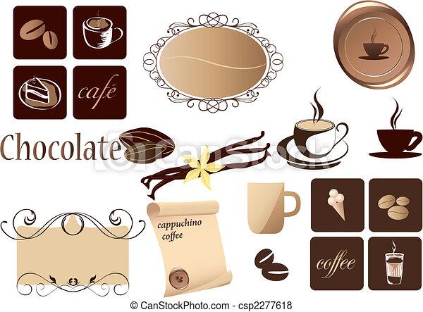 café, éléments - csp2277618