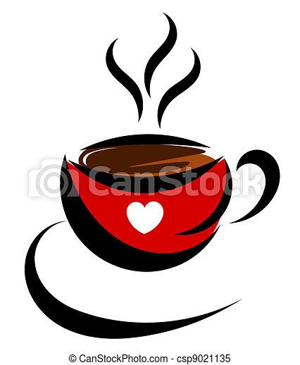 Amor de café. Café. ilustración de vectores de amor.