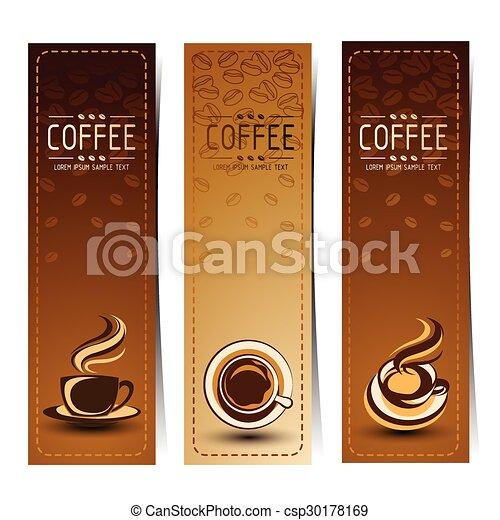 café, bandeira - csp30178169