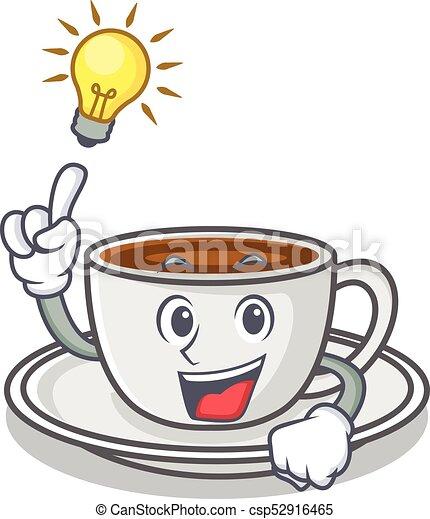 Tengo una idea del estilo de dibujos animados de personajes de café - csp52916465
