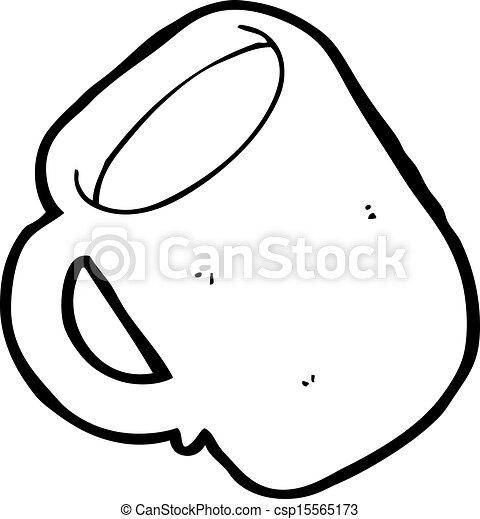 café, caricatura, copo - csp15565173