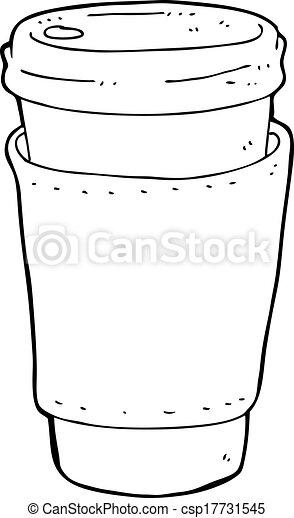 café, caricatura, copo - csp17731545