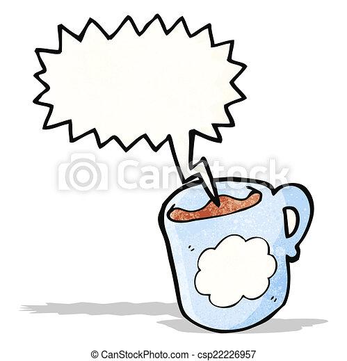 Una taza de café de dibujos animados - csp22226957