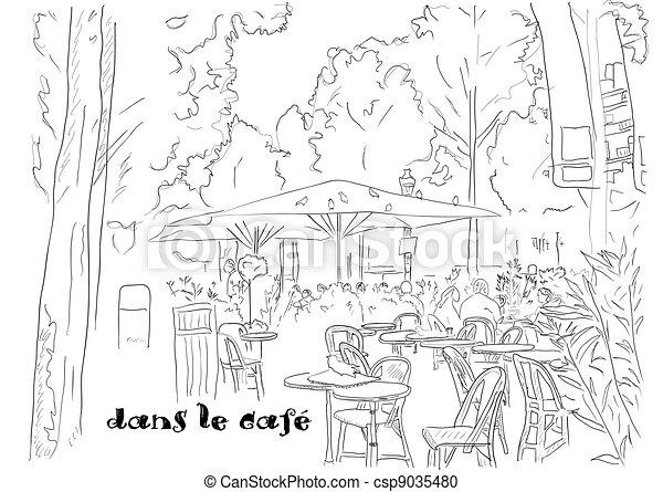 Café en los Campos Elíseos - csp9035480