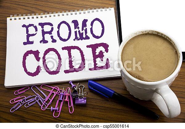 café, concept, business, sous-titre, promo, texte, projection, écrit, écriture, note, bois, stylo, papier, fond, ligne, promotion, main, code., inspiration - csp55001614