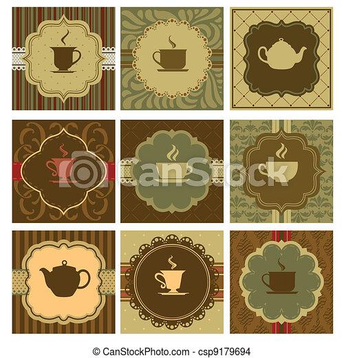 café, diseño - csp9179694