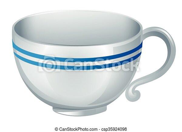 café, fond blanc, tasse - csp35924098