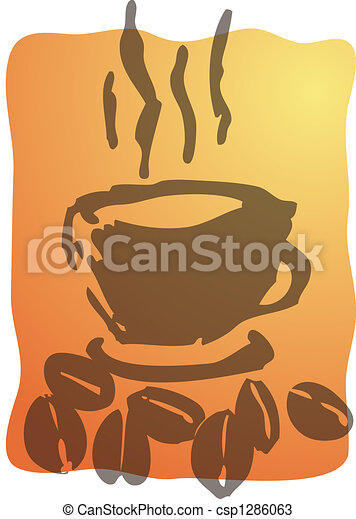 café, illustration, tasse - csp1286063