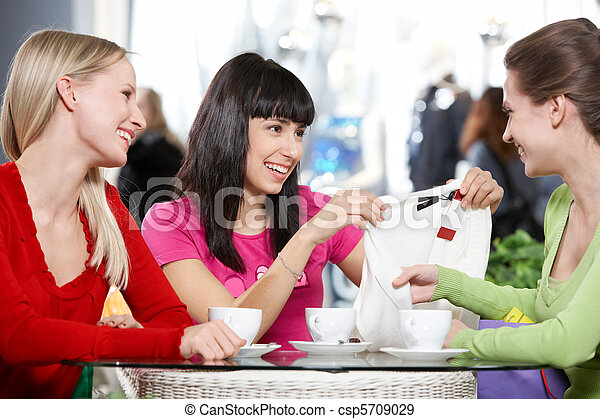 café, petites amies - csp5709029