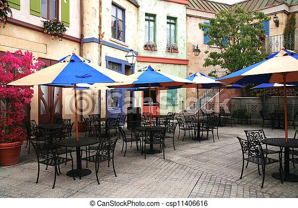 café, rue, classique, européen - csp11406616