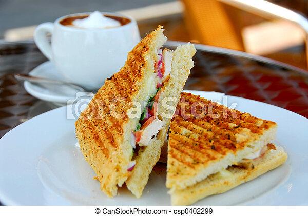 café, sanduíche - csp0402299