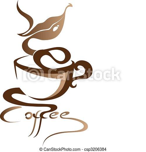 Signo de café - csp3206384