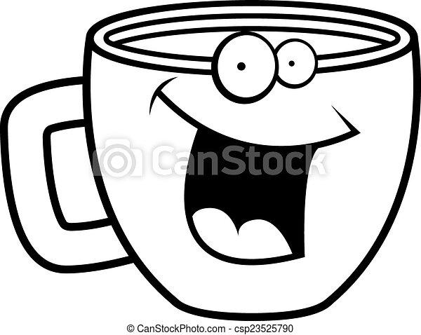 Café sonriendo - csp23525790
