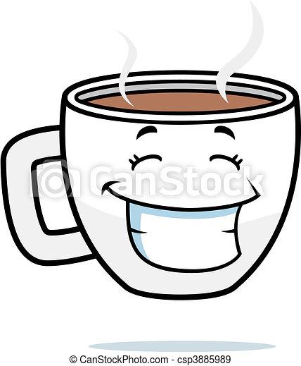 Una taza de café sonriente - csp3885989