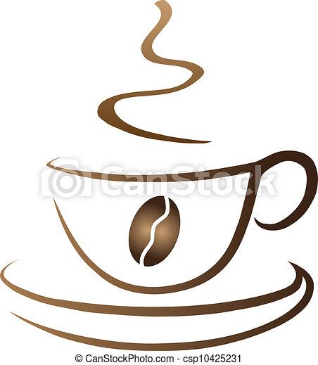 café, symbolique, tasse - csp10425231