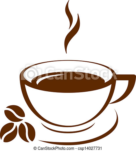 café, vecteur, icône, tasse - csp14027731