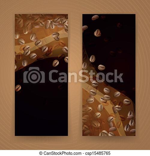 café, vetorial, bandeiras - csp15485765