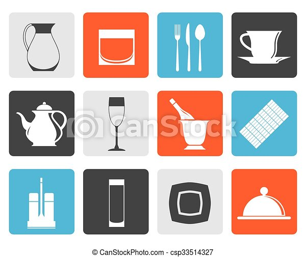 cafe, bar and night club icons - csp33514327