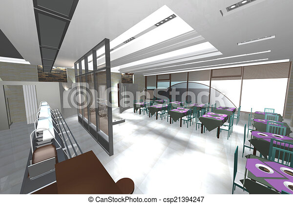 cafe interior interior color slide premises of a small cafe
