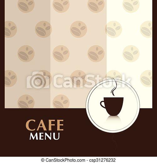 Cafe Menu Design Vector Coffee Template Background