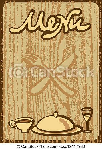cafe menu - csp12117930