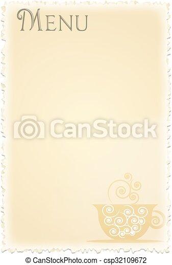CAFE MENU - csp32109672