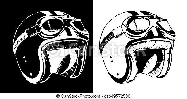 Cafe Racer Print T Shirt Emblem Helmet Cafe Racer Print T Shirt