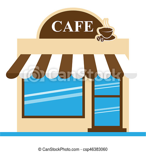 cafe shop means brewed coffee 3d illustration cafe shop stock rh canstockphoto com Coffee House Clip Art coffee shop clipart black and white
