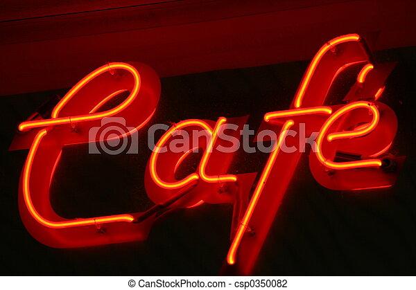 Cafe Sign - csp0350082
