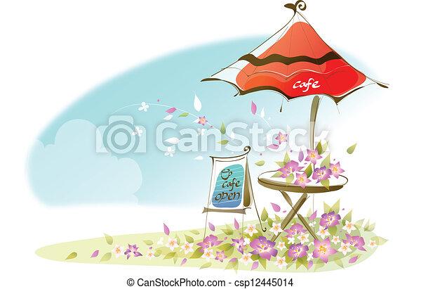 Cafe signboard  - csp12445014