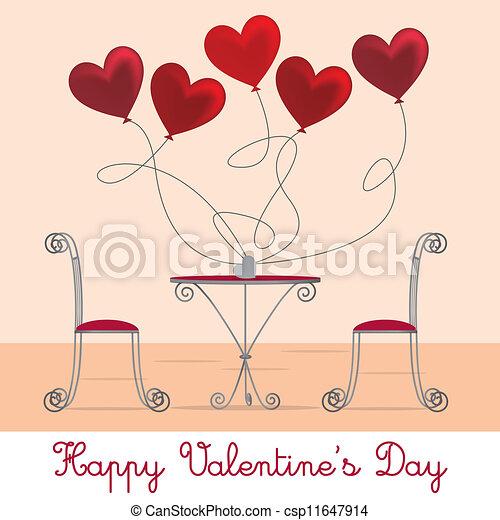 Cafe Valentine Card - csp11647914