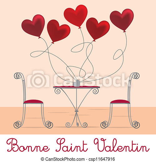 Cafe Valentine Card - csp11647916