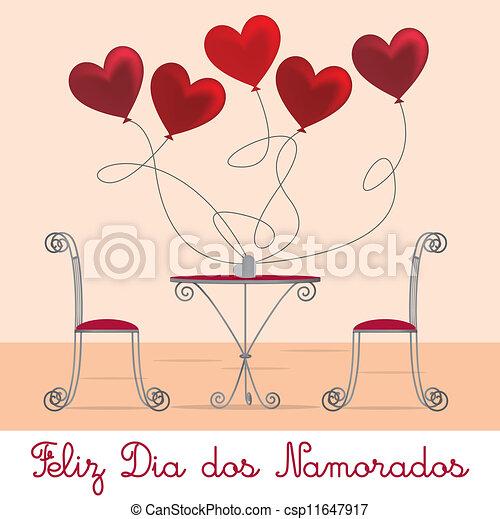 Cafe Valentine Card - csp11647917