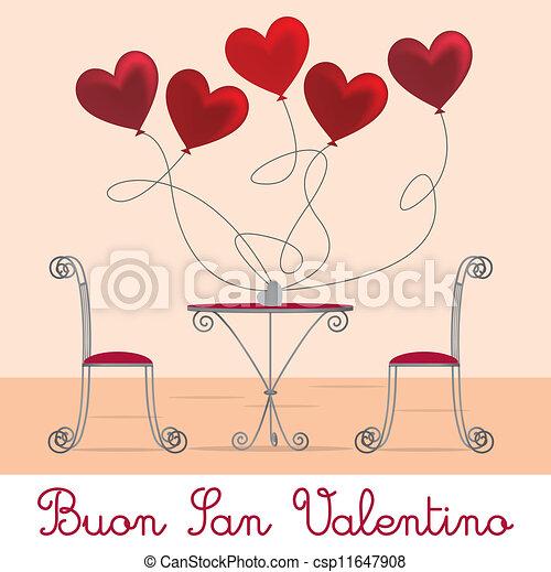 Cafe Valentine Card - csp11647908