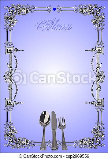 (cafe), vecteur, menu., illustration, restaurant - csp2969556