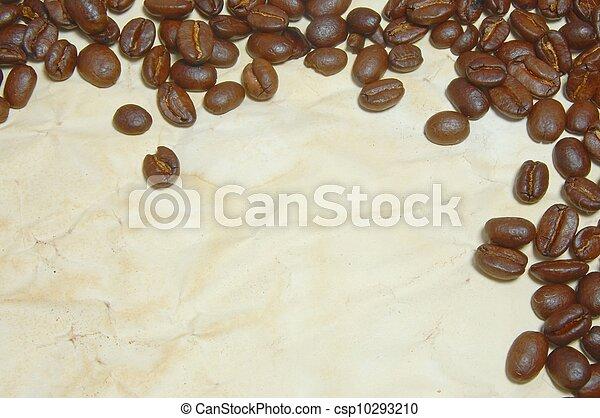 caffè, carta, fagioli - csp10293210