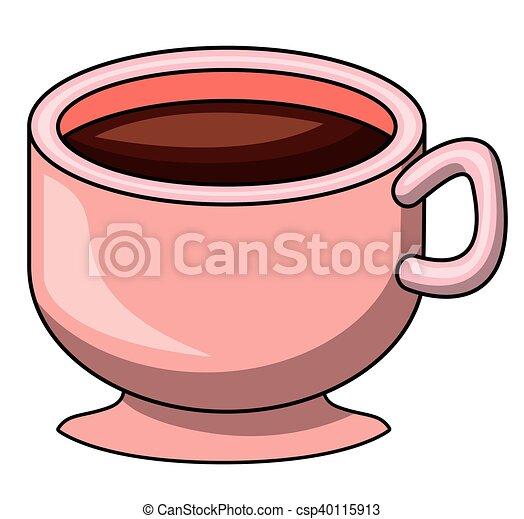 Caffè Disegno Tazza Cartone Animato Caffè Menu Bevanda Theme