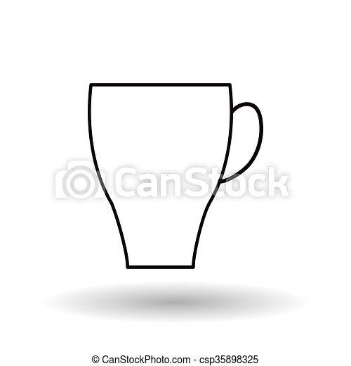 Caffè Disegno Tazza 10 Caffè Concetto Graphic Eps
