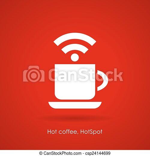 caffè, icona internet - csp24144699