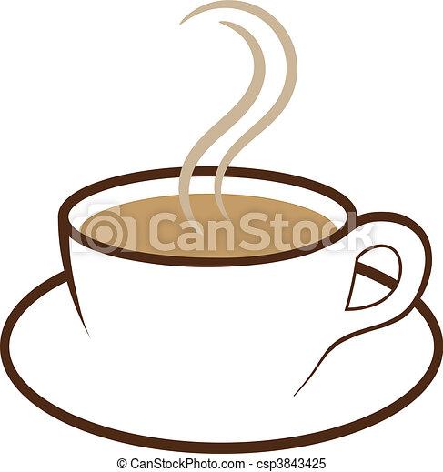 caffè, vettore, tazza - csp3843425