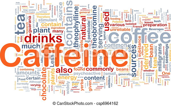 Caffeine background concept - csp6964162
