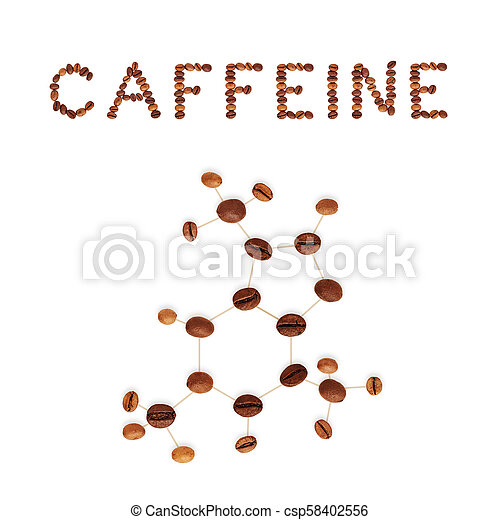 Caffeine Chemical Molecule Structure The Structural Formula Of