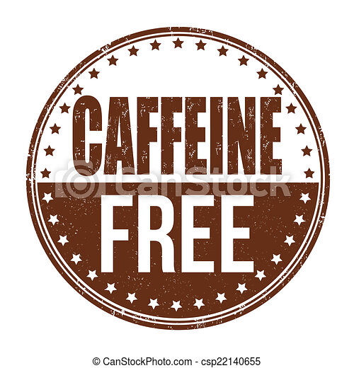 Caffeine free stamp - csp22140655
