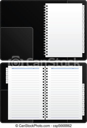 cahier, agenda, vide - csp5668862