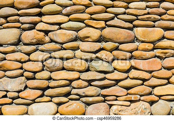 Cailloux mur pierre fond rivi re rond images rechercher photographies et clipart csp46959286 - Mur en cailloux ...